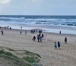 Strandskoonmaak op Glentana