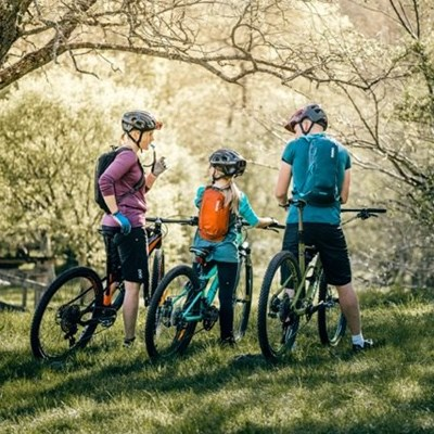 Gearing up for a family bike ride
