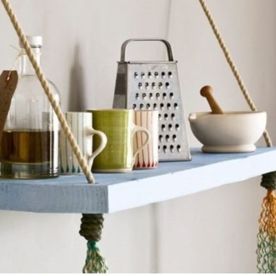 Step-by-step guide to making a rope shelf