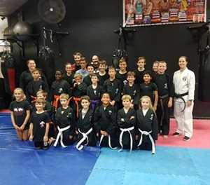 Mid-year grading for martial arts students