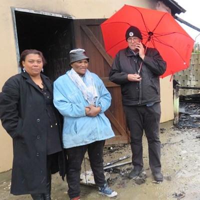 Rosedale-huis vernietig in brand