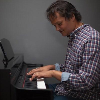 Jazz musician holding workshop and concert