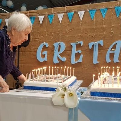 Tannie Greta se lewe met eeufees gevier
