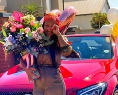 Boity blesses her mom with a new set of birthday wheels