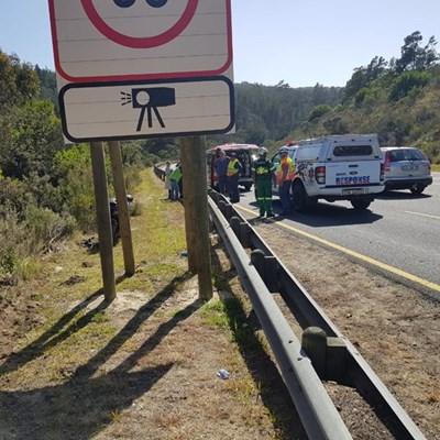 Biker injured in Kaaimans Pass accident