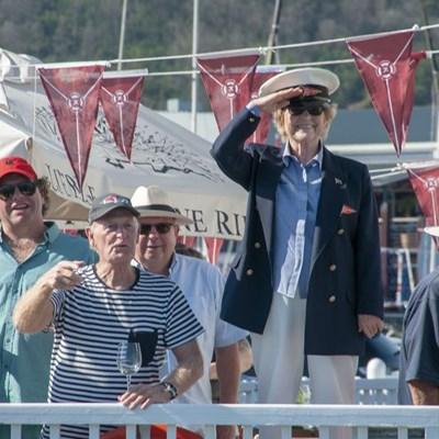 Woman opens sailing season