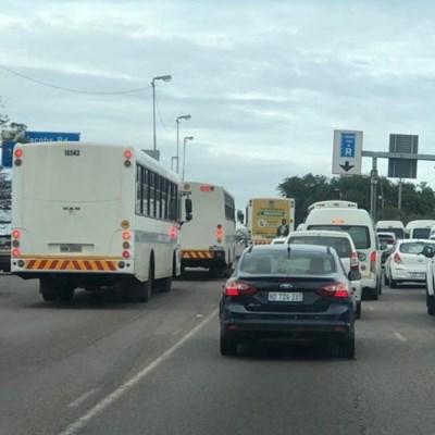 Chaos around Durban as bus drivers block major routes
