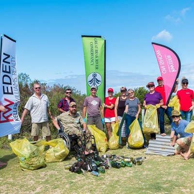 Cleanup at Great Brak beach and dunes