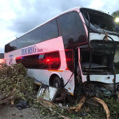 60 children in Plett bus crash