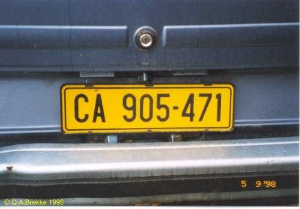 CA number plates will soon become CAA | Knysna-Plett Herald