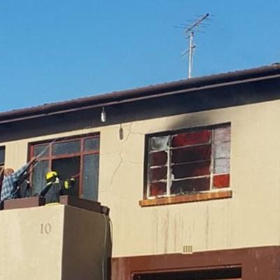 Huisbrand in Olieslager straat