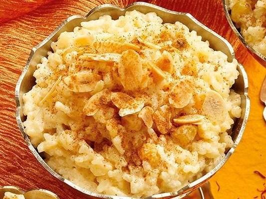 Recipe: Saffron rice pudding