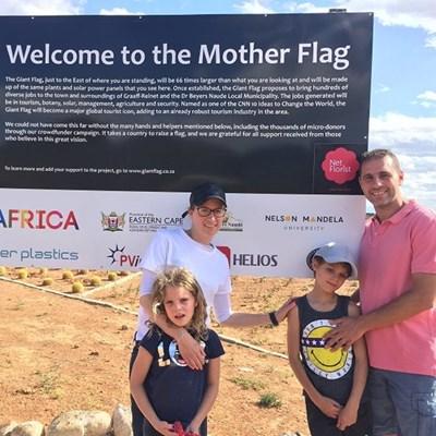 Visit Graaff-Reinet's Giant Flag