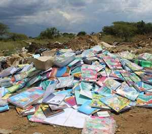 Hundreds of textbooks dumped in Polokwane suburb