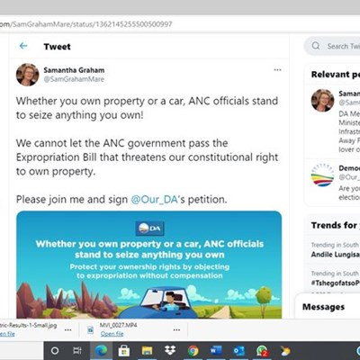 DA MP in Twitter storm over car tweet