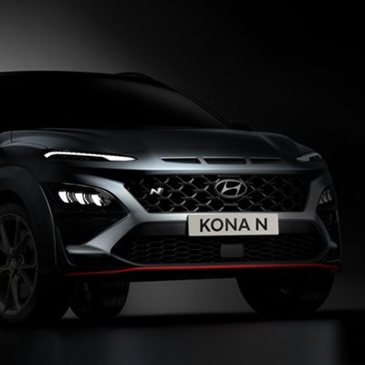 Hyundai reveals uncovered glimpse of all-new KONA N