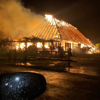 Lightning causes fire at wedding and conference venue
