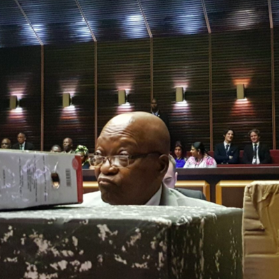 Zuma's arrest warrant cancelled, pre-trial hearing adjourned to September