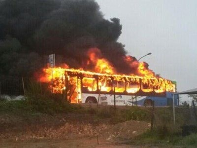 GO GEORGE bus case also up in flames