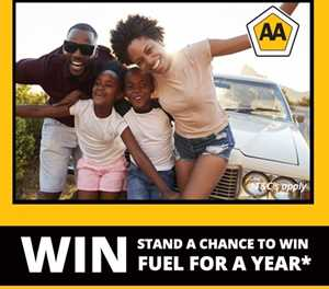 WIN FUEL FOR A YEAR WITH THE AA