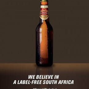 Castle Lager gets naked in solidarity with Willemse