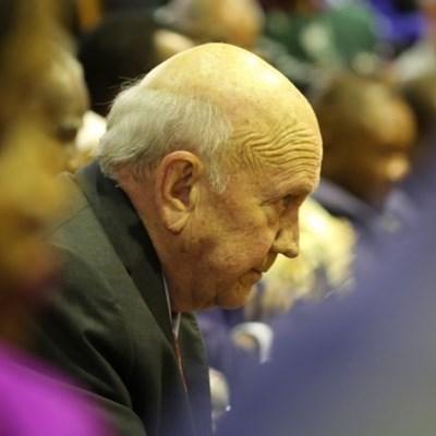Former president FW de Klerk diagnosed with cancer