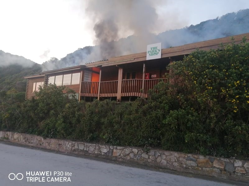 Shop at Tsitsikamma national park lost in fire