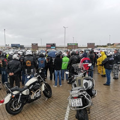 Bikers brave weather for a cause
