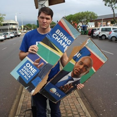 Election poster theft in KZN plagues DA