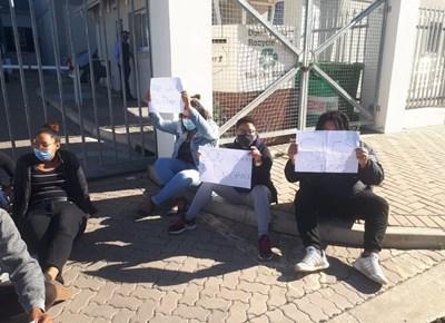 Teachers assistants protest about no pay