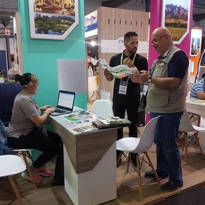 Regional tourism staff at Travel Indaba