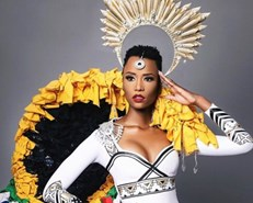Miss SA reveals Miss Universe outfit