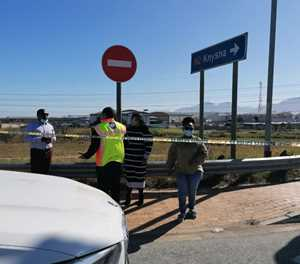 Traffic officer stable, minister on scene