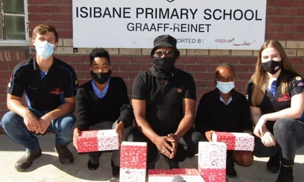 Isibane Primary receives donated shoes