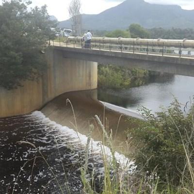 Garden Route Dam overflows