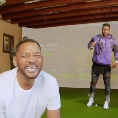 Will Smith's front teeth knocked out while playing golf