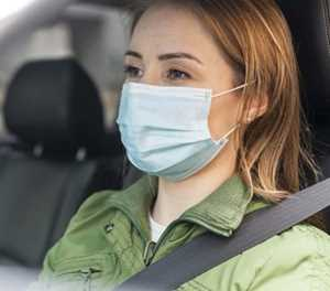 Rules of wearing a mask while driving