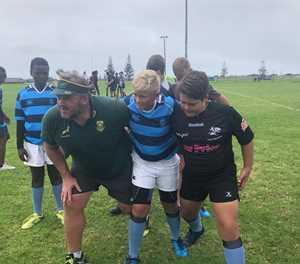 Rugbyspelers presteer