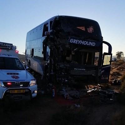 N1 closed: Crash involves Greyhound bus