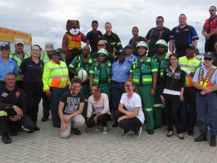 Emergency services host riveting demonstration