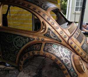 From rust bucket to work of art