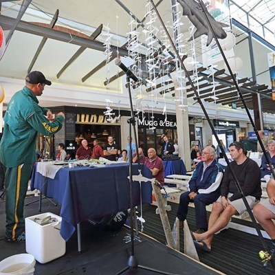 Great Outdoor Man Fishing expo at mall