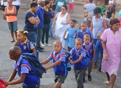 My eerste dag van skool: Sacred Heart Primêre Skool