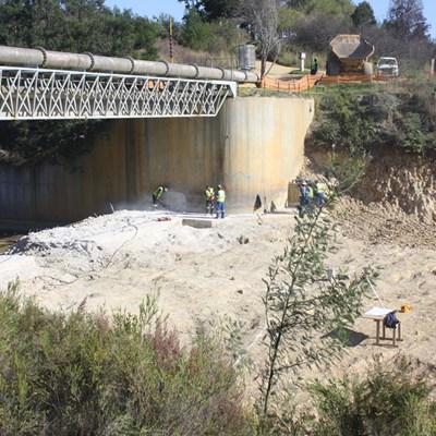 Raising of dam wall well underway