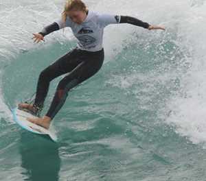 Junior surfers show their skills