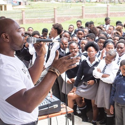Local DJ 'decks' out learners with new shoes