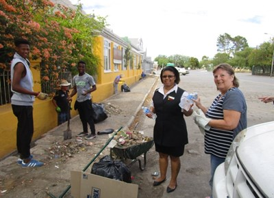 Residents clean-up drive