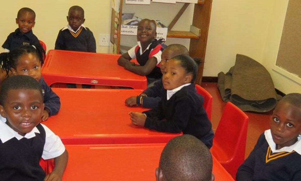 My 1st school day at Thembalethu Primary