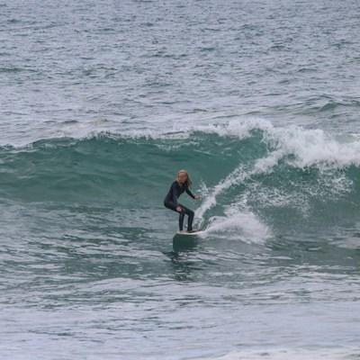 Budding surfer makes big waves