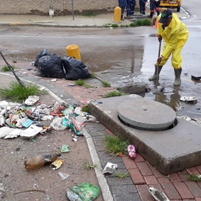 Illegal Dumping causes flooding
